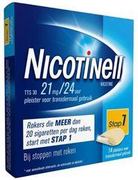 Afbeeldingen van Nicotinell pleisters TTS30 21mg 14st