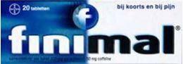 Afbeeldingen van Finimal Paracetamol-Coffeïne 500/50mg 20tb