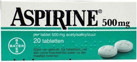 Afbeelding van Aspirine 500mg 20tb
