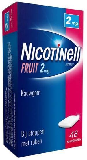 Afbeelding van Nicotinell kauwgom Fruit 2mg 48st