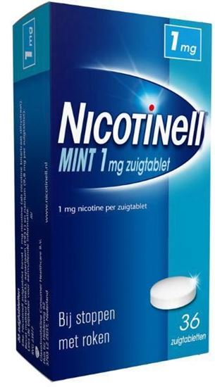 Afbeelding van Nicotinell Mint 1mg zuigtablet 36tb
