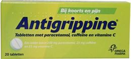 Afbeeldingen van Antigrippine 250mg paracetamol 25mg coffeïne 20tb