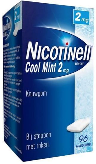 Afbeelding van Nicotinell kauwgom Cool Mint 2mg 96st