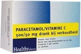 Afbeeldingen van Healthypharm Paracetamol & vit C 10st