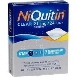 NiQuitin Clear pleisters Stap 1 21mg 7st