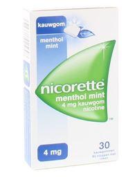 Afbeeldingen van Nicorette kauwgom 4mg Menthol Mint 30st