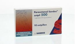 Afbeeldingen van Sandoz Paracetamol 500mg zetpil 10st