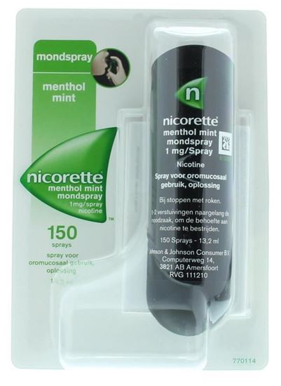 Nicorette mondspray Menthol Mint 13,2ml