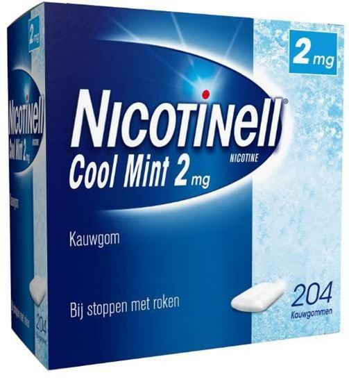 Afbeelding van Nicotinell kauwgom Cool Mint 2mg 204st