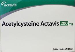 Afbeeldingen van Actavis Acetylcysteine 200mg bruistablet 30tb