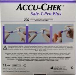 Afbeeldingen van Accu-Chek Safe-T-Pro Plus lancet 200st