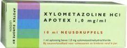 Afbeeldingen van Apotex xylometazoline HCI 1mg/ml druppels 10ml