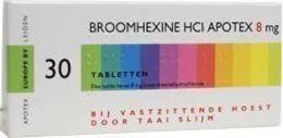 Afbeeldingen van Apotex Broomhexine 8mg 30tb
