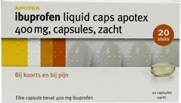 Afbeeldingen van Apotex Ibuprofen 400mg Liquid Caps 20caps