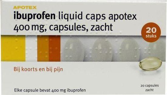 Afbeelding van Apotex Ibuprofen 400mg Liquid Caps 20caps