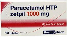 Afbeeldingen van Healthypharm Paracetamol 1000mg zetpil 10st