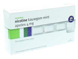 Afbeeldingen van Apotex Nicotine 4mg kauwgom 36st