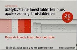 Afbeeldingen van Apotex Acetylcysteine 200mg bruistablet 20tb