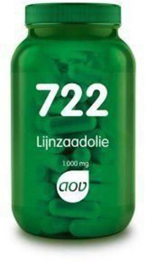 Afbeelding van AOV 722 Lijnzaadolie 1000 mg