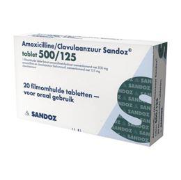 Amoxicilline/Clavulaanzuur 500/125mg 20tb