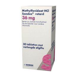 Methylfenidaat 36mg retard 30tb