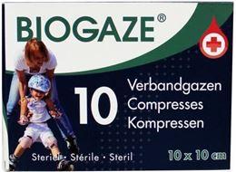 Afbeeldingen van Biogaze Verbandgazen 10 x 10cm 10st