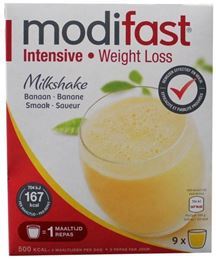 Afbeeldingen van Modifast Intensive Milkshake Banaan 423g