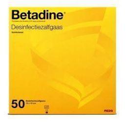 Afbeeldingen van Betadine Desinfecterende zalfgazen