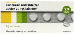 Apotex Cinnarizine 25mg 30tb