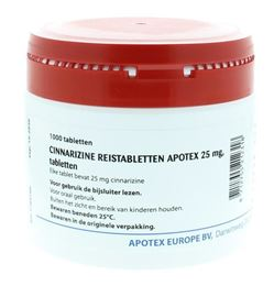 Apotex Cinnarizine 25mg 1000tb