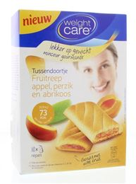 Weight Care Tussendoortje Fruitreep Abrikozen en Perzik 8st