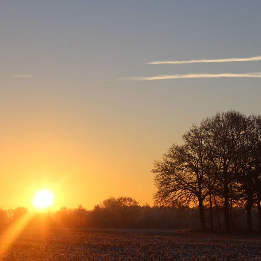 De zon staat even stil