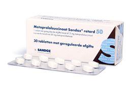 Afbeeldingen van Metoprololsuccinaat 50mg retard 30 tab.